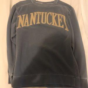 Blue Nantucket oversized sweatshirt